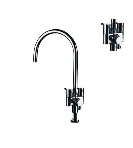 Sink Cock|FLR-5355N |with Provision for Connection to RO from rear side & Swinging Spout